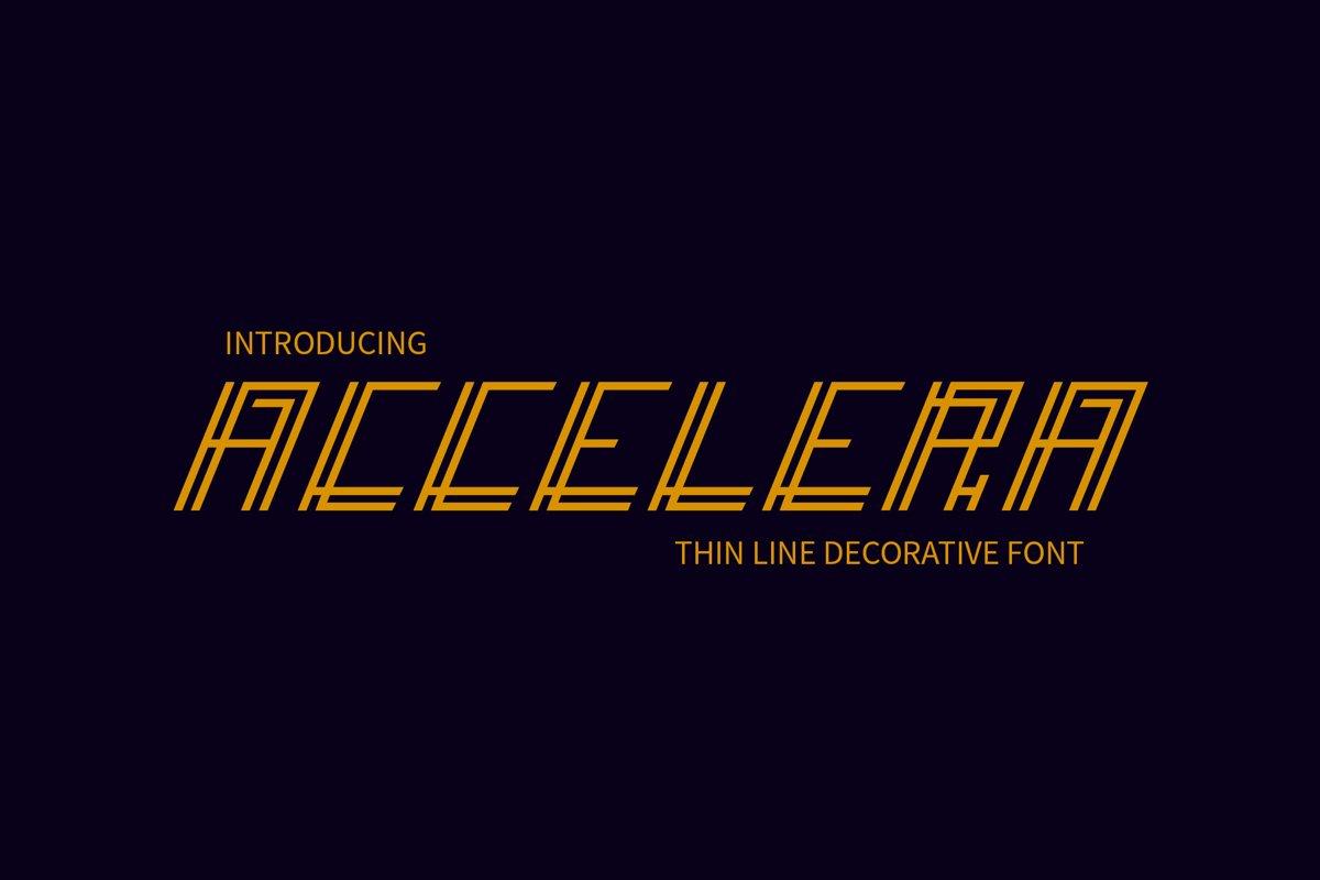 Accelera - Thin Line Decorative Font example image 1