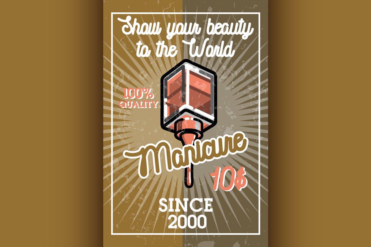 Color vintage manicure banner example image 1