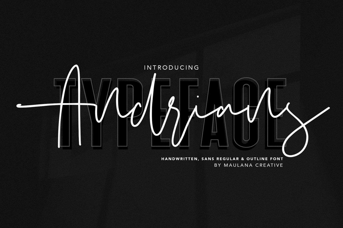 Andrians Script Sans Font example image 1