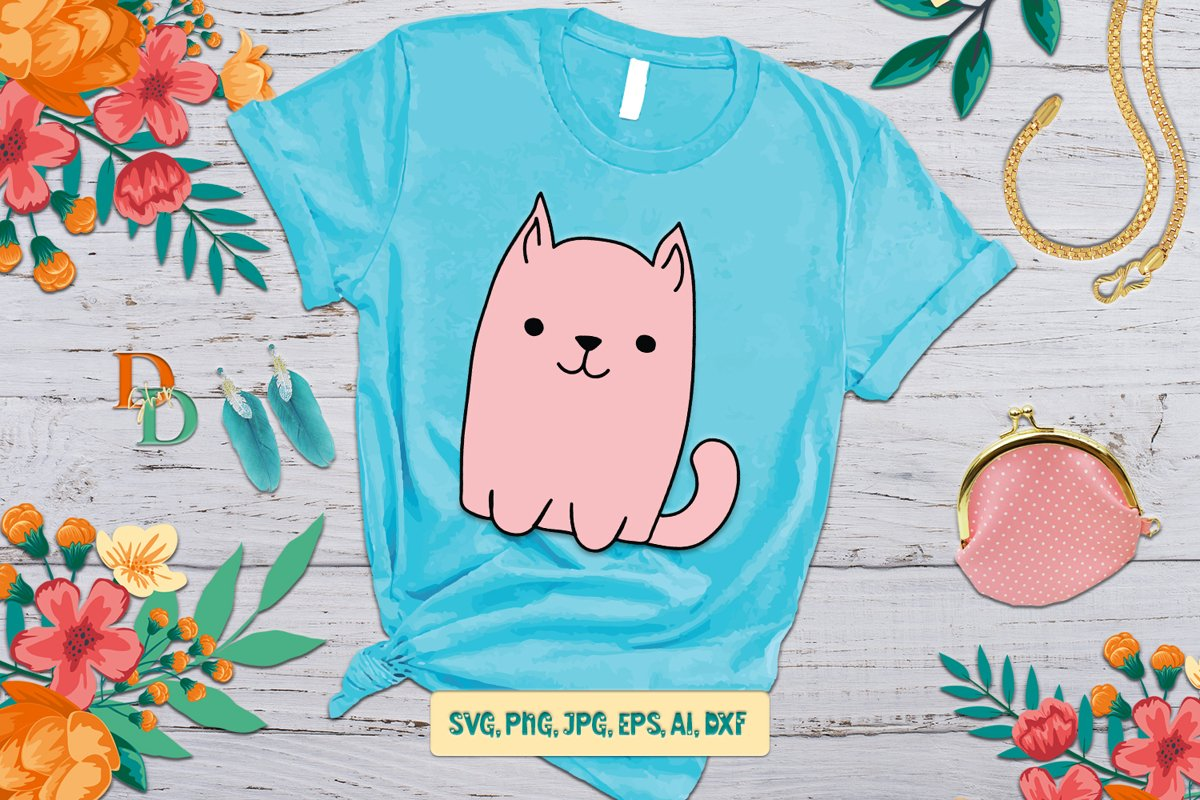 Cat Quotes SVG, digital quotes for printable, t shirt design example image 1