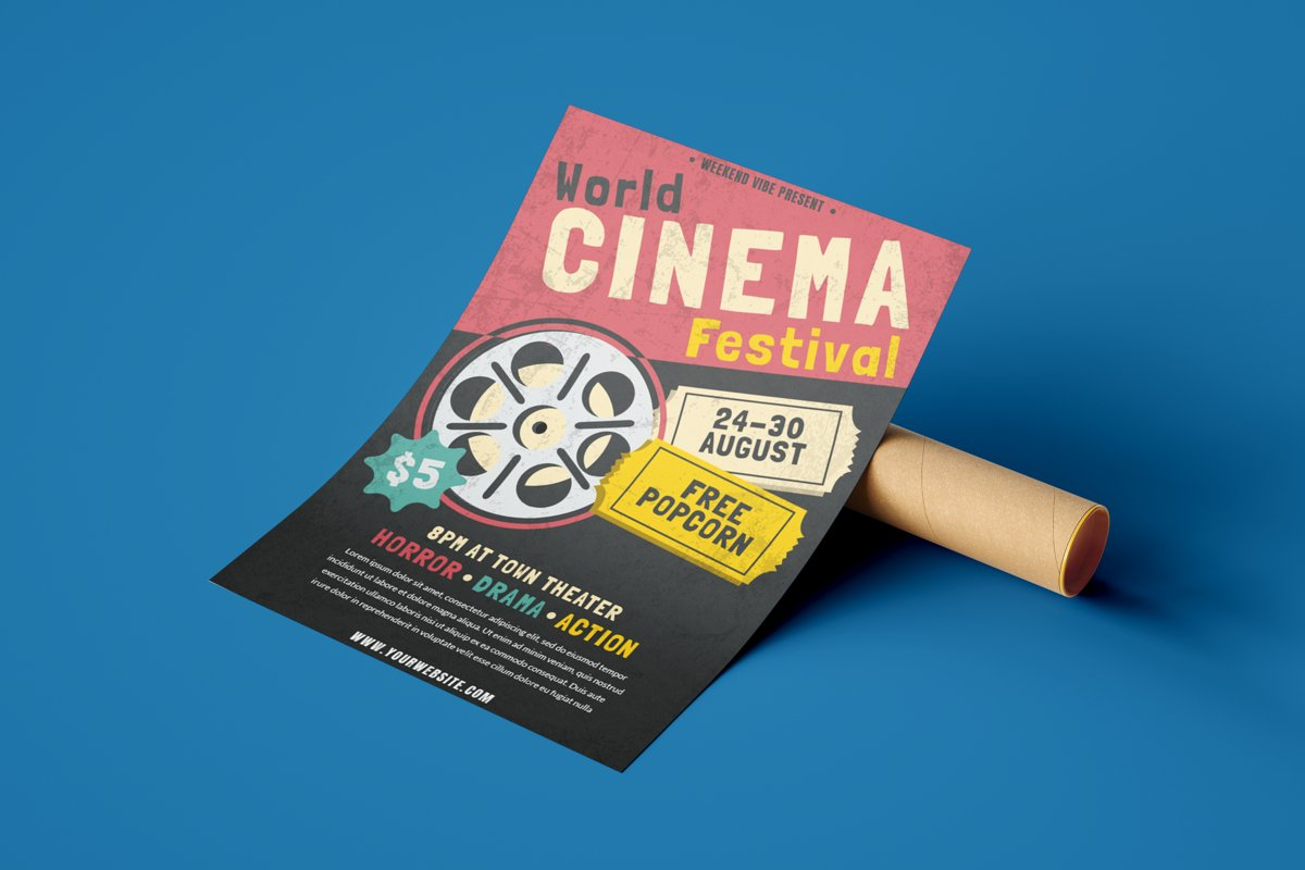 Cinema Festival - Flyer Poster example image 1