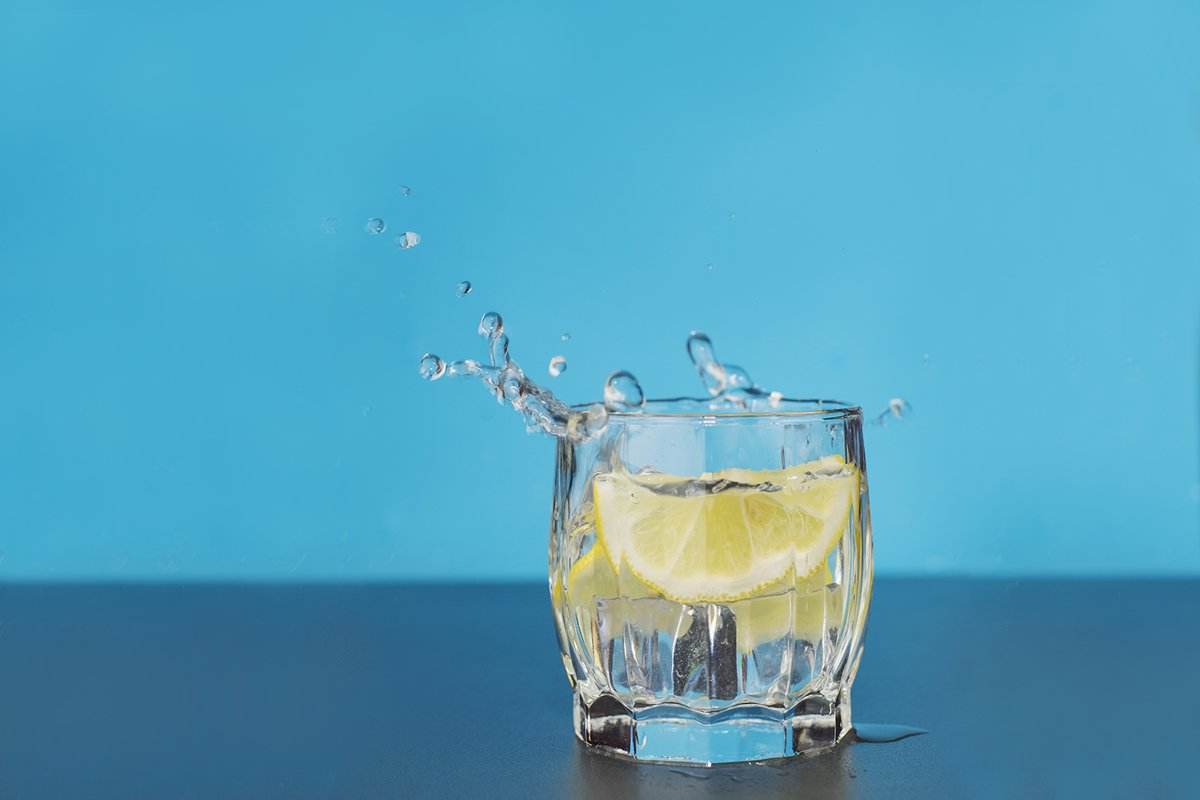 clear water drink in a glass splash splashin example image 1