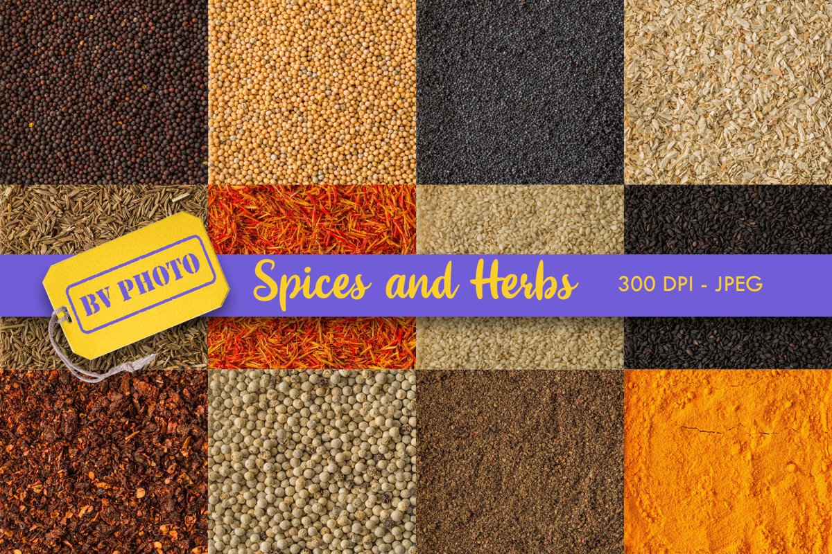 Food background. Spices and herbs example image 1