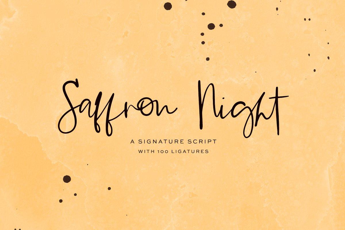 Saffron Night Signature Script example image 1