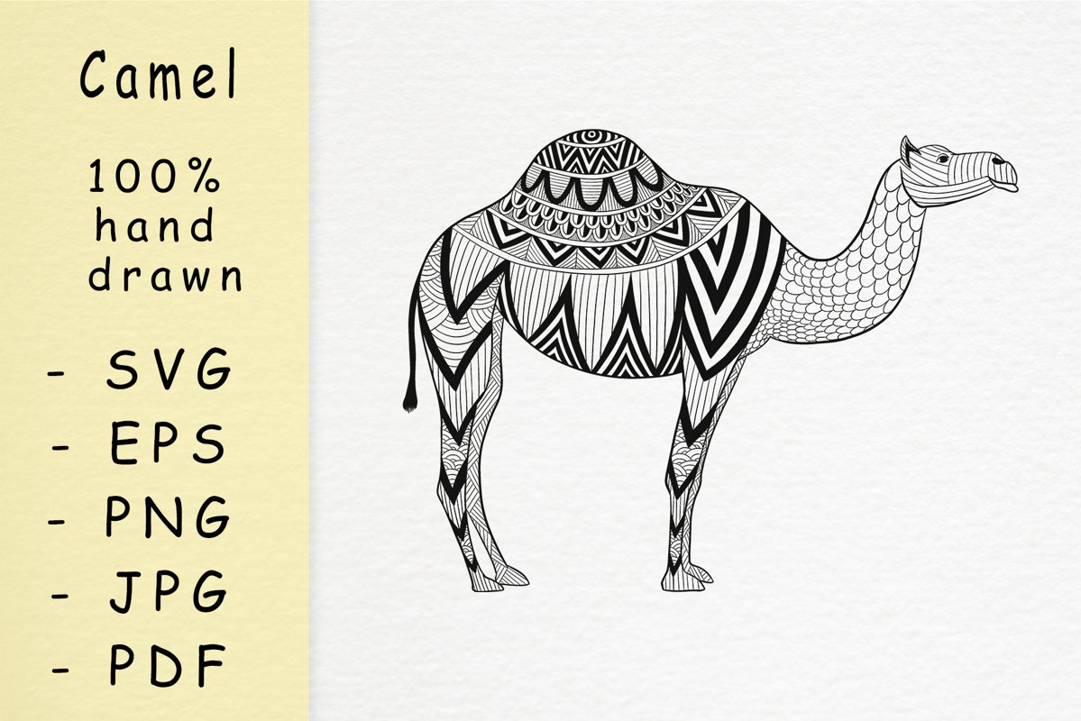 Hand drawn Camel with patterns example image 1
