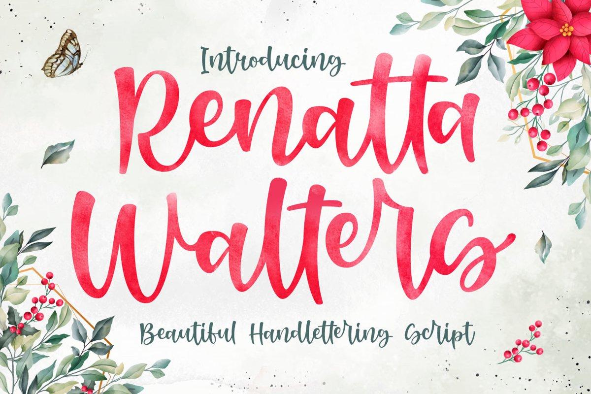 Renatta Walters - Beautiful Script Font example image 1