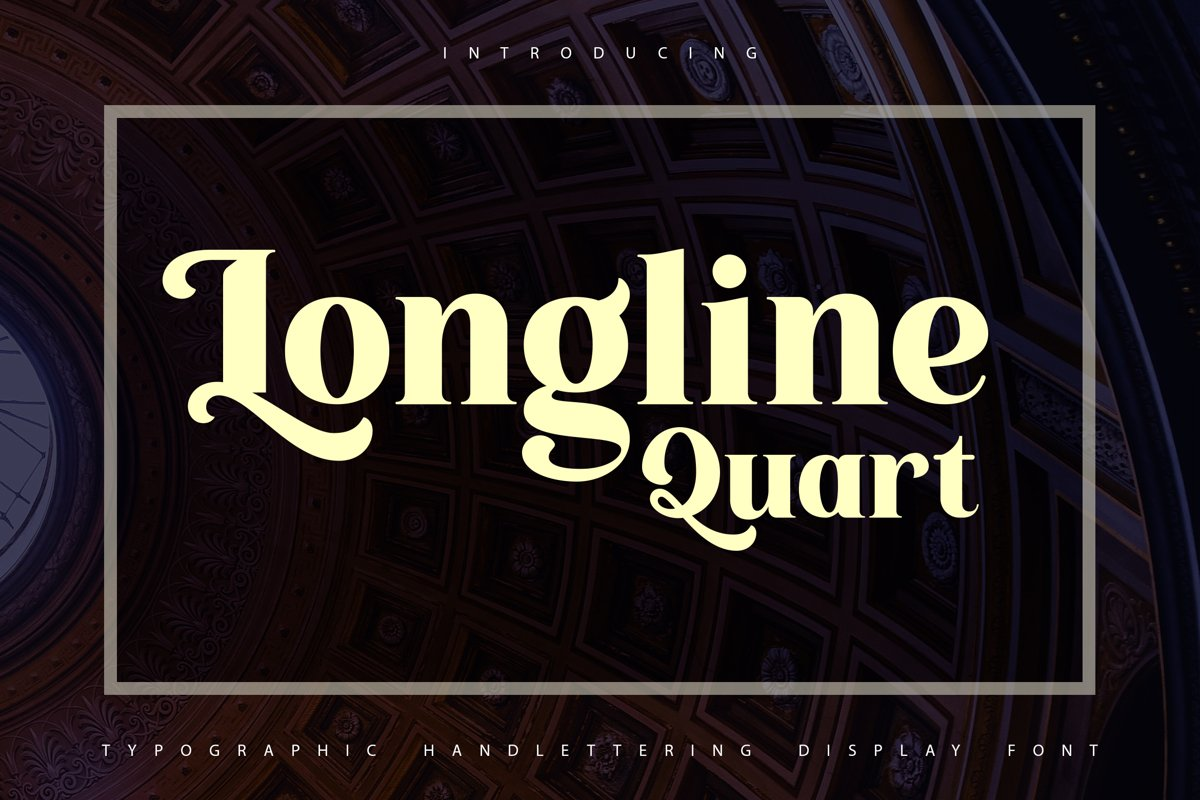 Longline Quart | Typhographic Handlettering Display Font example image 1