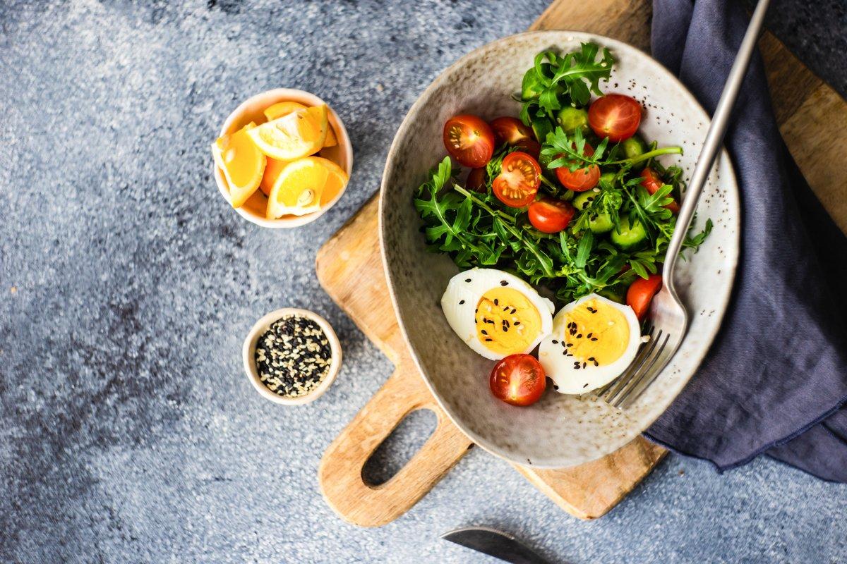 Green raw fresh and organic vegan salad example image 1