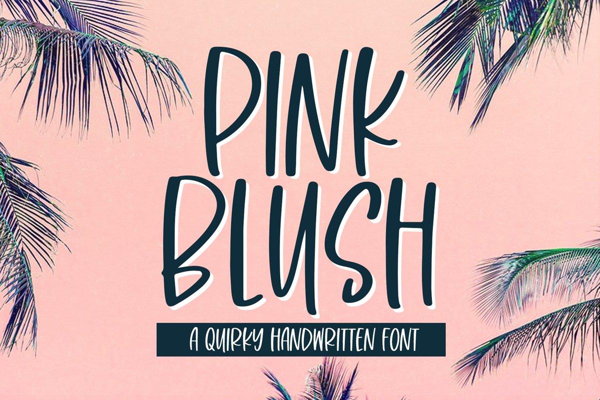 Pink Blush - A Fun Handwritten Font example image 1