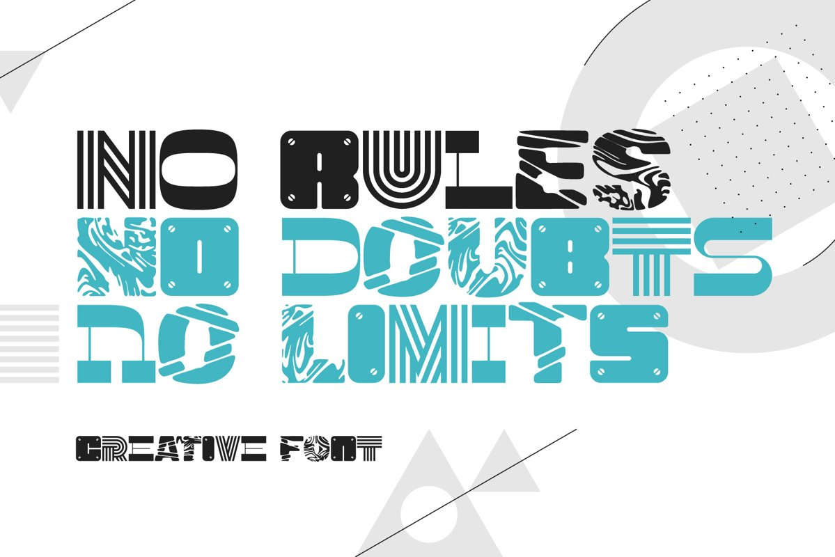 No Rules font example image 1