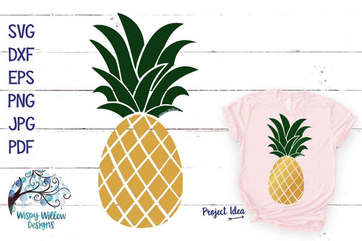 Pineapple SVG Cut File example image 1
