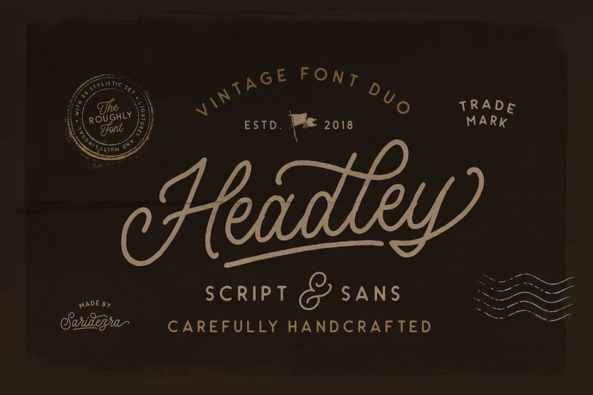 Headley - Vintage Font Duo example image 1