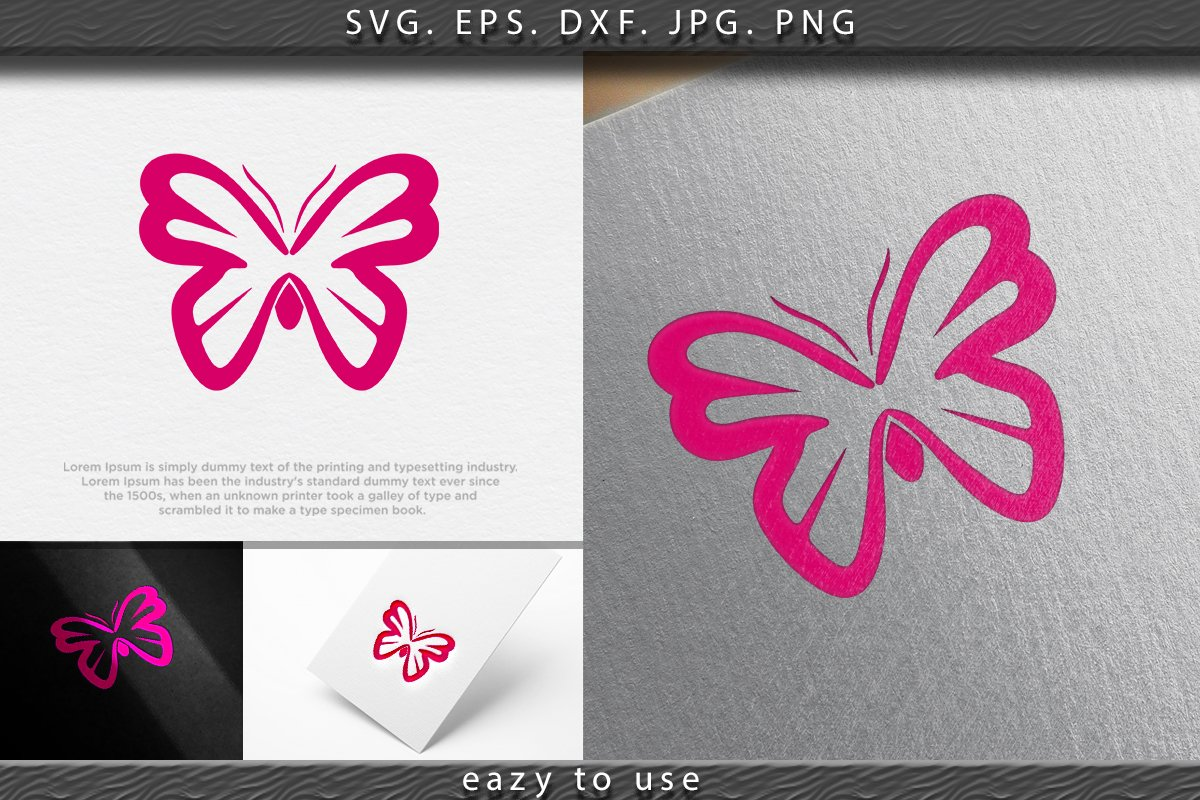 Abstract Luxurious Colorful Gradient Butterfly logo Ideas. I example image 1