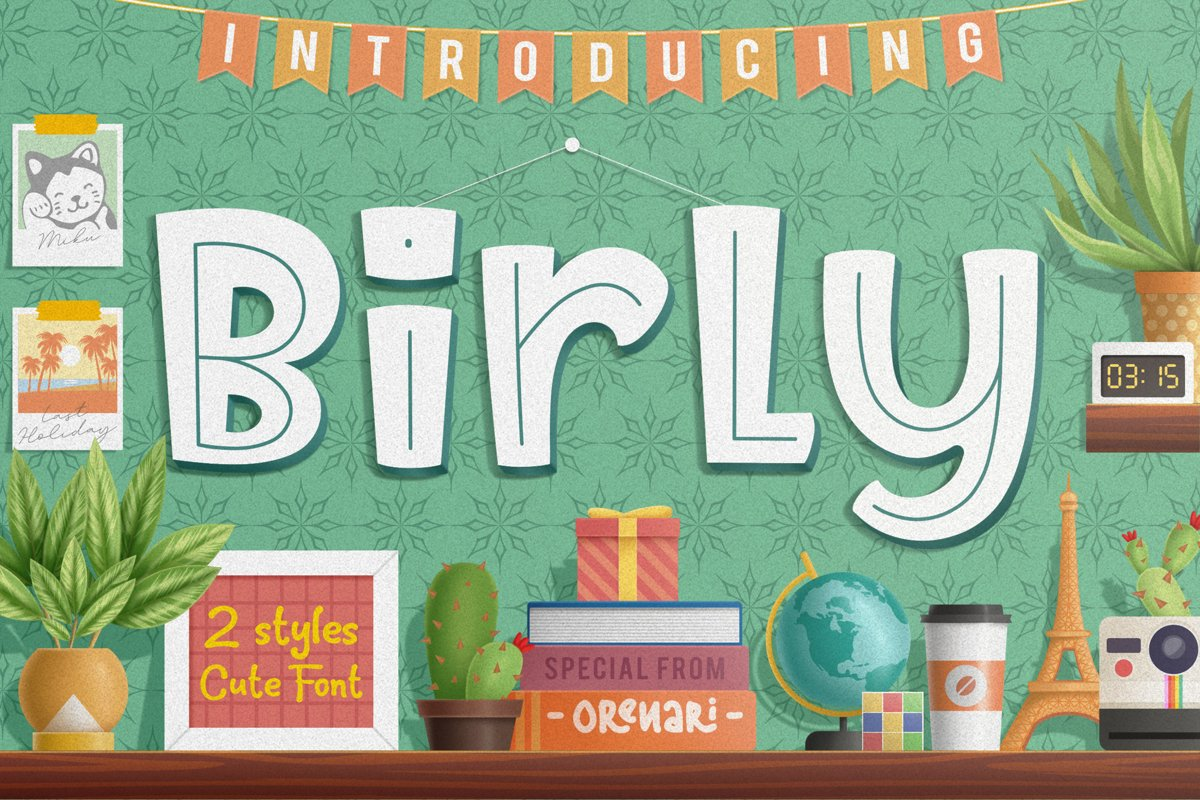 Birly   2 Cute Font Style example image 1