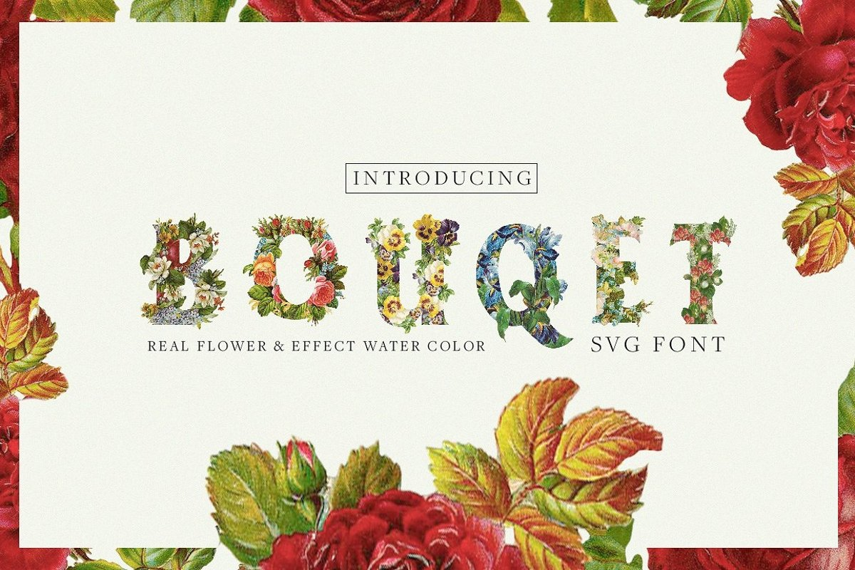 Bouqet Flower & Watercolor example image 1