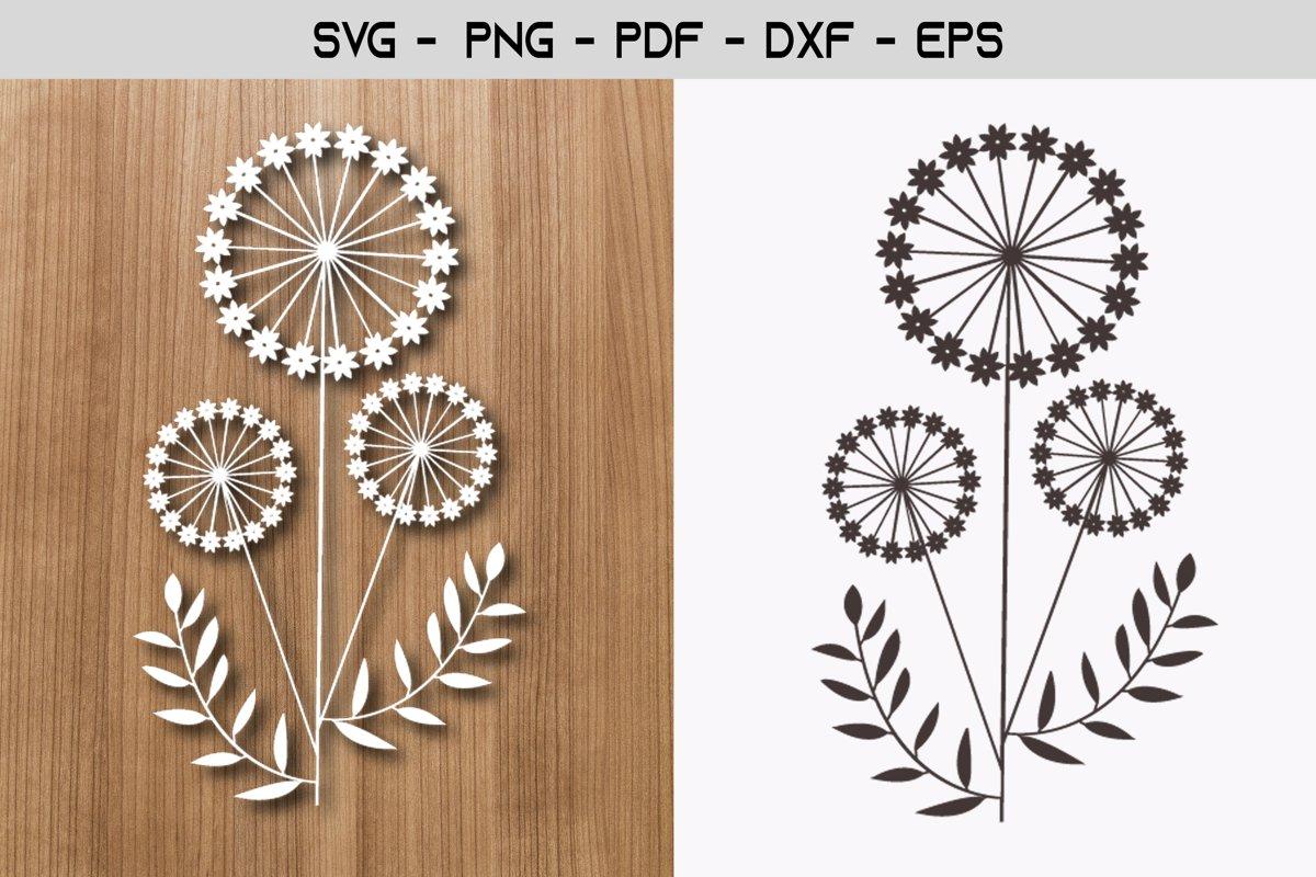 Dandelion Paper Template Design example image 1