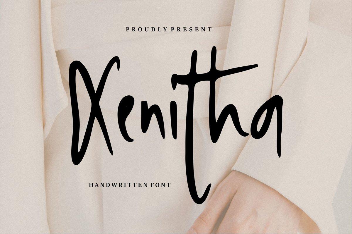 Xenitha - Handwritten Font example image 1