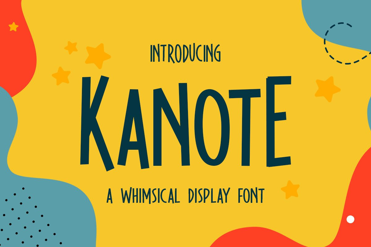Kanote - Whimsical Display Font example image 1