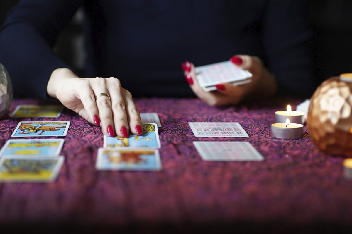 Defocused universal tarot cards. Mystical atmosphere example image 1