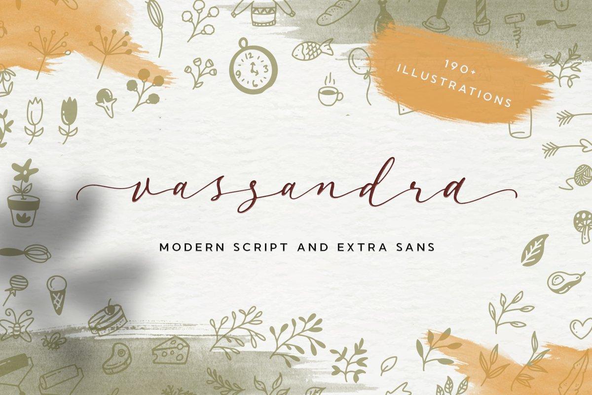 Vassandra Modern Script example image 1
