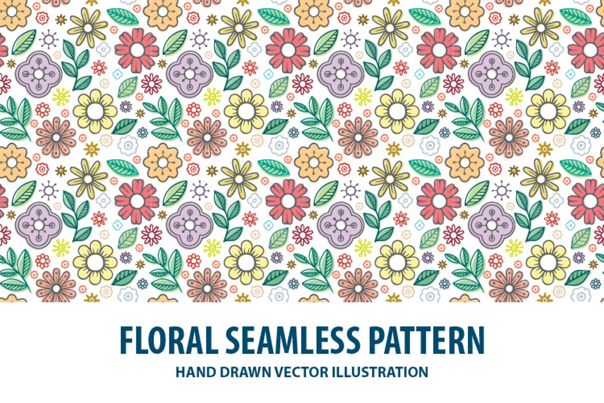 Floral seamless pattern. Part 2 example image 1
