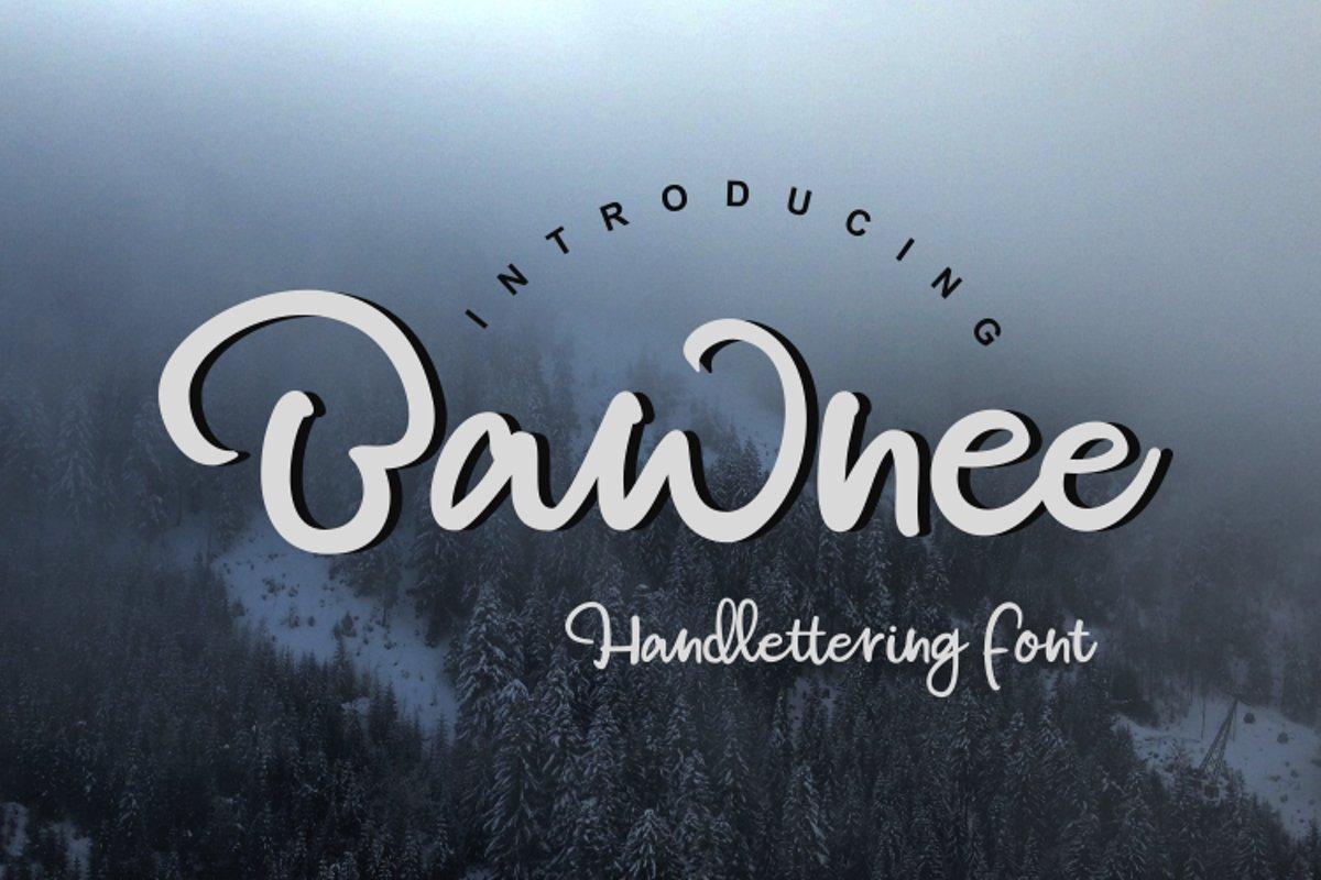 bawnee - handlattering font example image 1