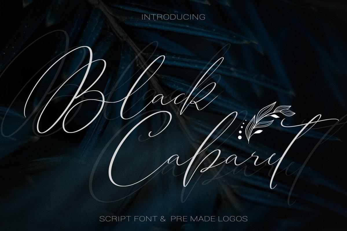 Black Cabaret Script Font & Logos example image 1