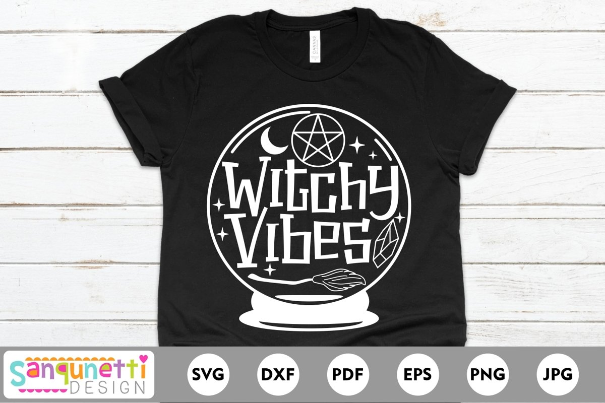 Witchy Vibes SVG, Halloween and witch svg example image 1