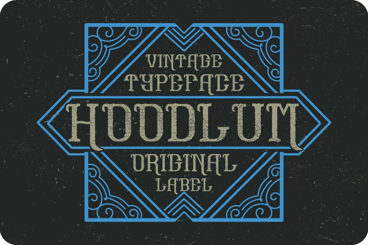 Hoodlum label font example image 1