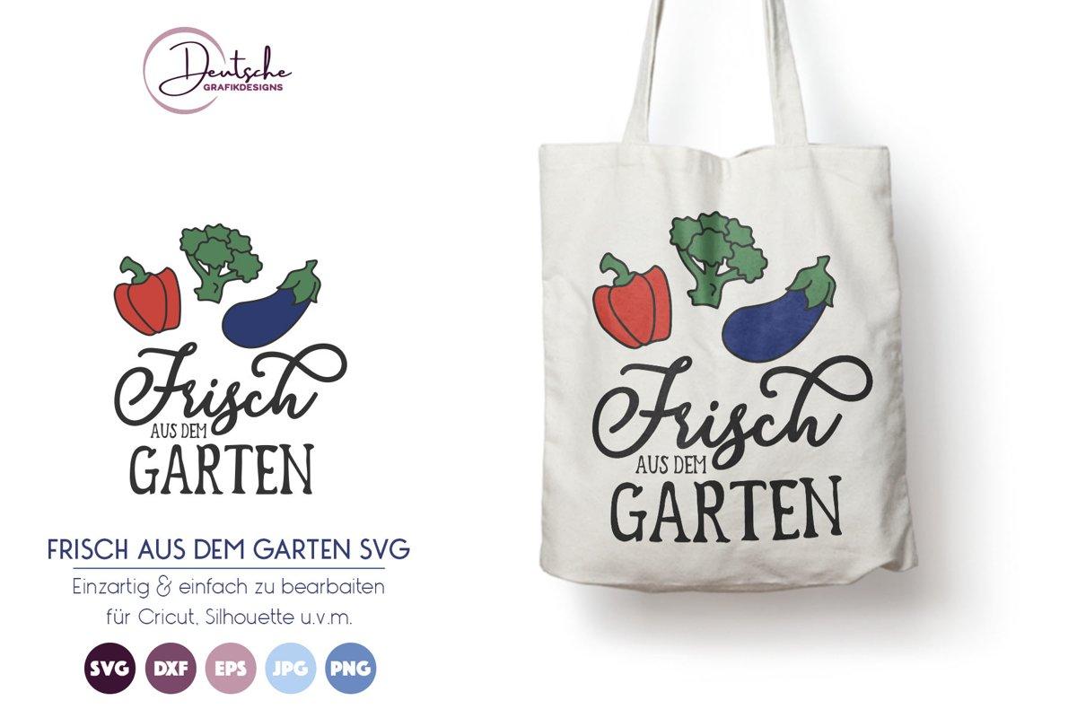 Frisch aus dem Garten SVG | Gemüse SVG example image 1