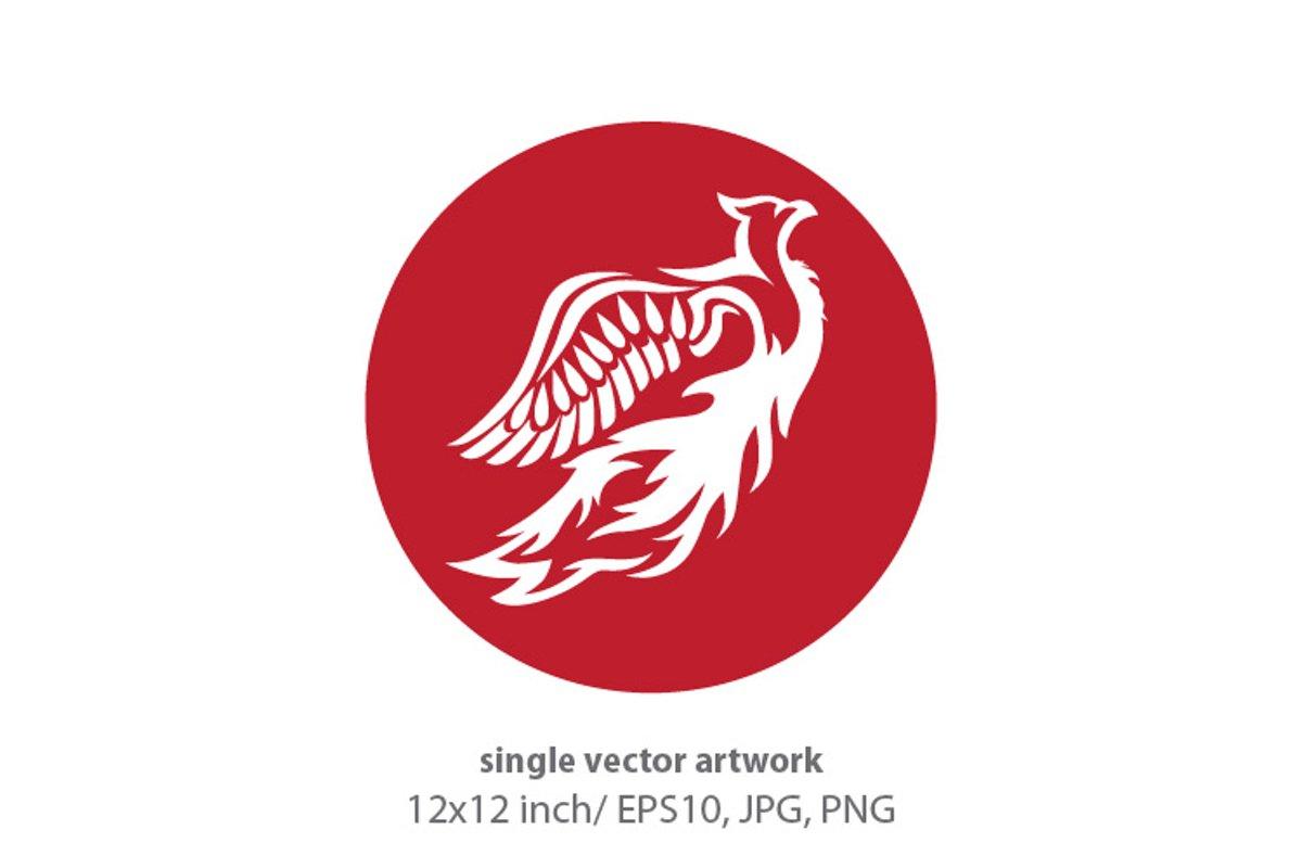 Phoenix Bird - single vector artwork example image 1