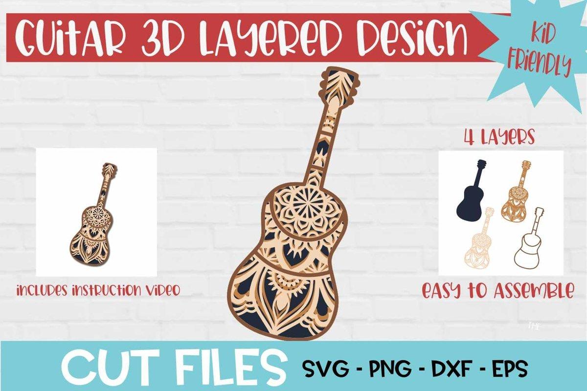 258+ Guitar Mandala Svg Free – SVG,PNG,DXF,EPS include