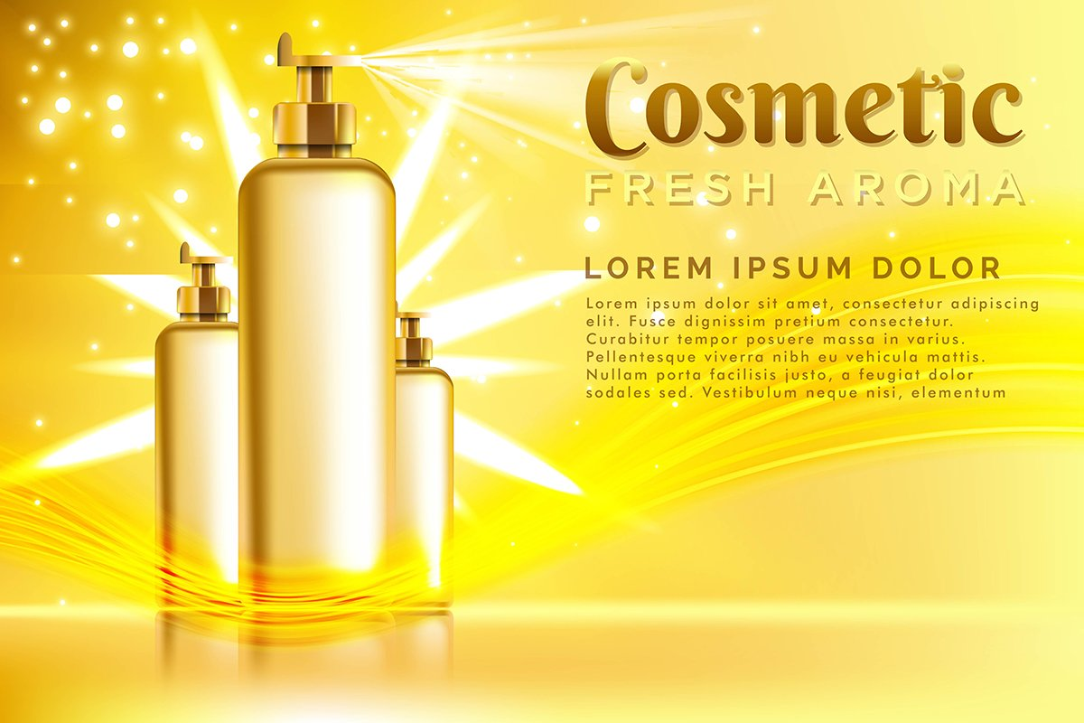 realistic template cosmetic package. Spray Cosmetics Product example image 1