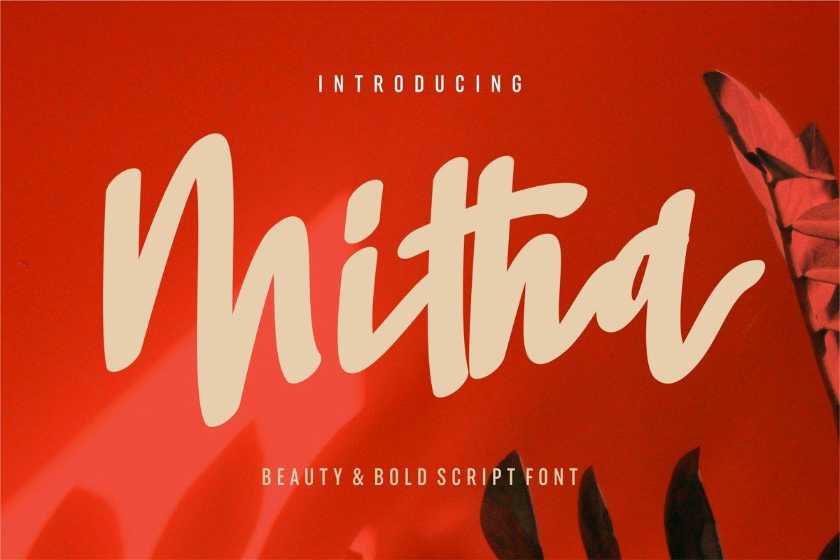Mitha - Beauty & Bold Script Font example image 1