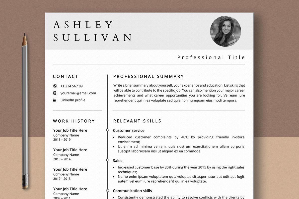 functional resume template    career change cv  634039