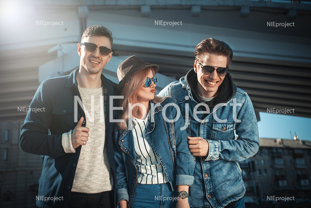 Group of young adults having fun spending the day example image 1