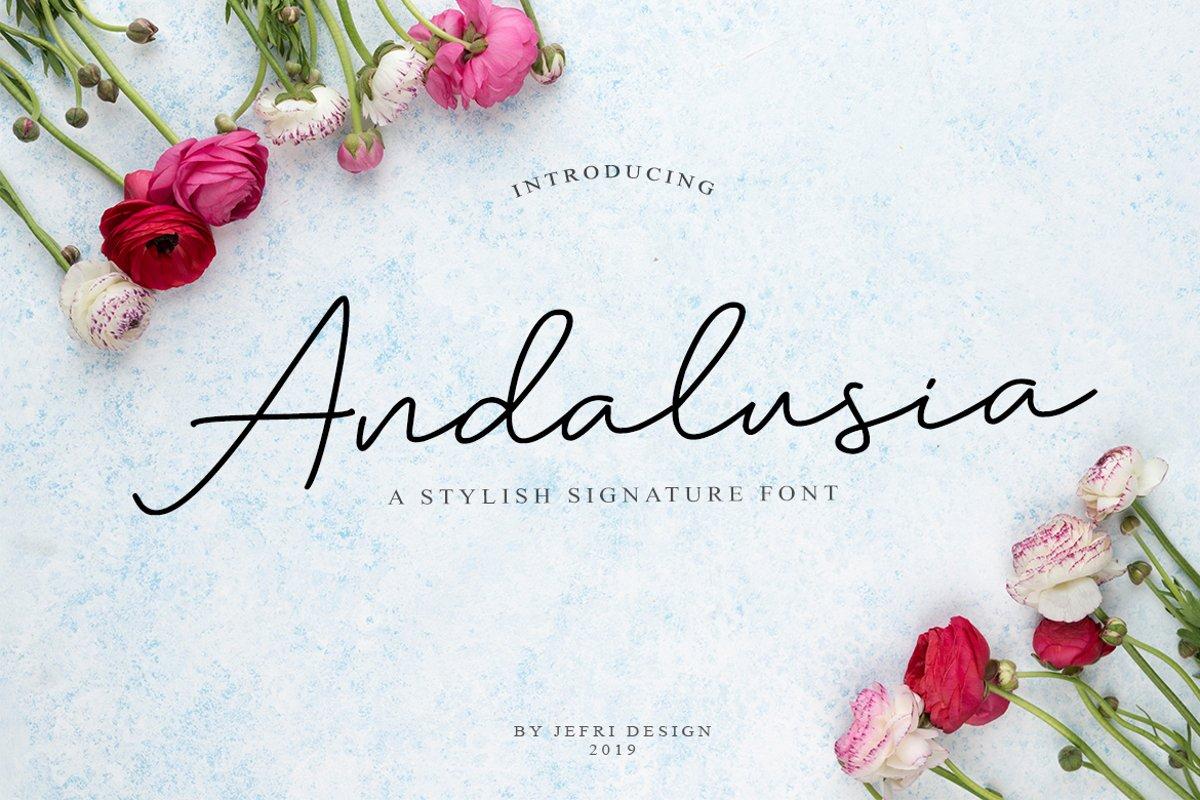 Andalusia Signature Script example image 1