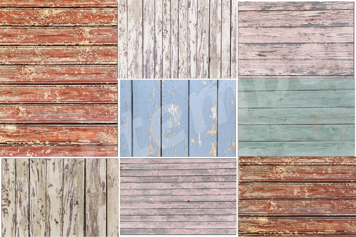 Collage of 8 Colorful rustic wooden backgrounds example image 1