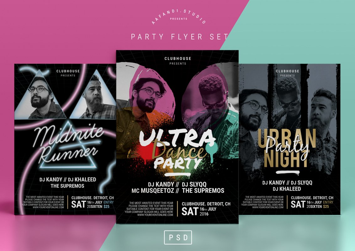 Party Flyer Set example image 1