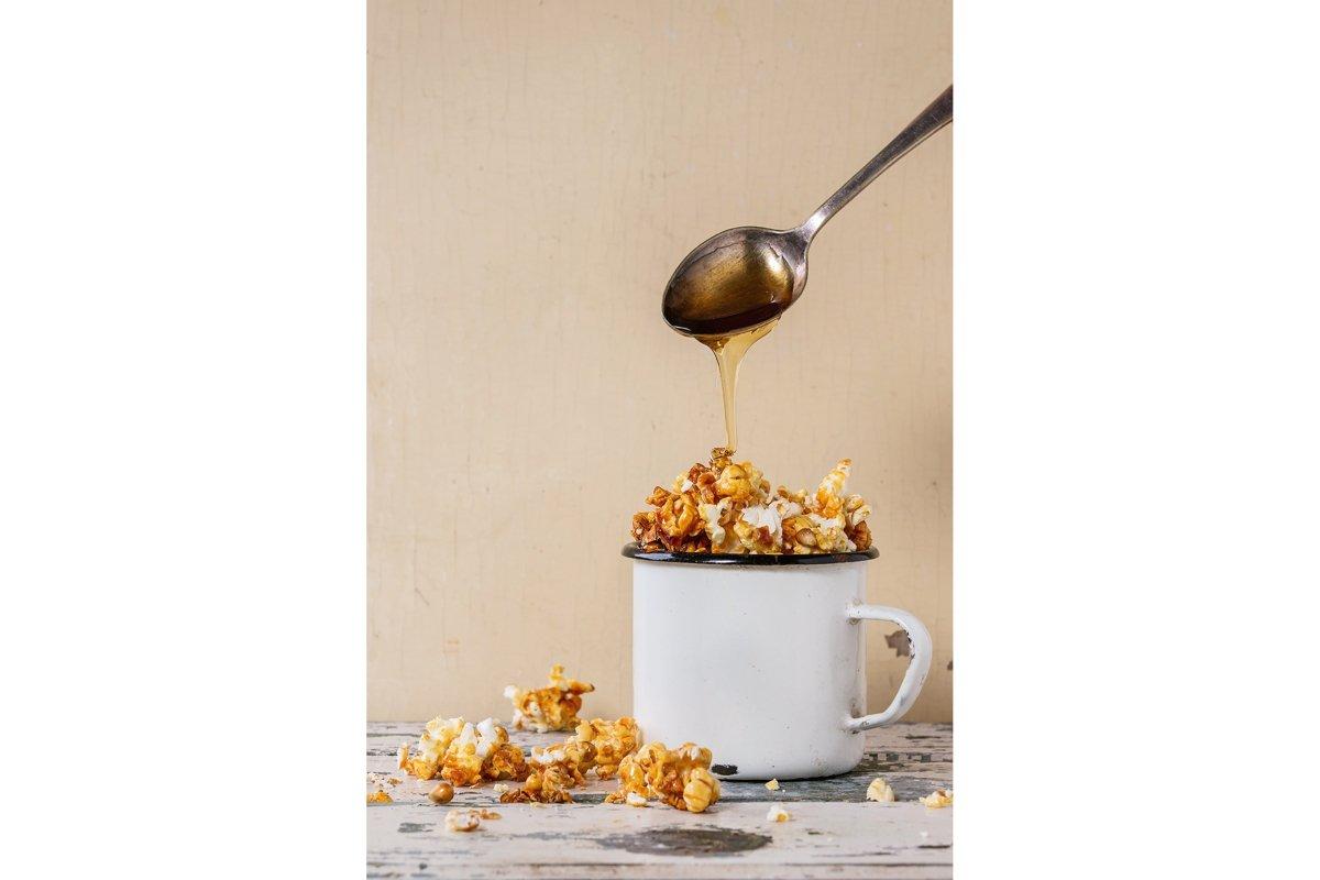 Prepared caramel popcorn example image 1