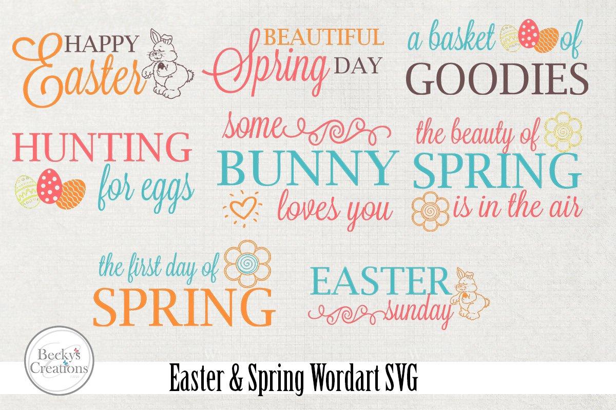 Easter / Spring Wordart SVG example image 1