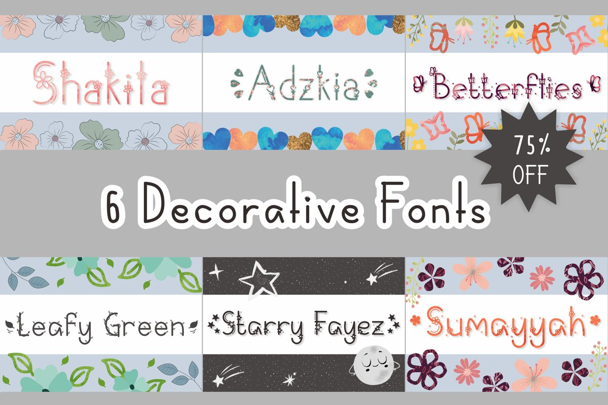 6 DecorativeFonts example image 1