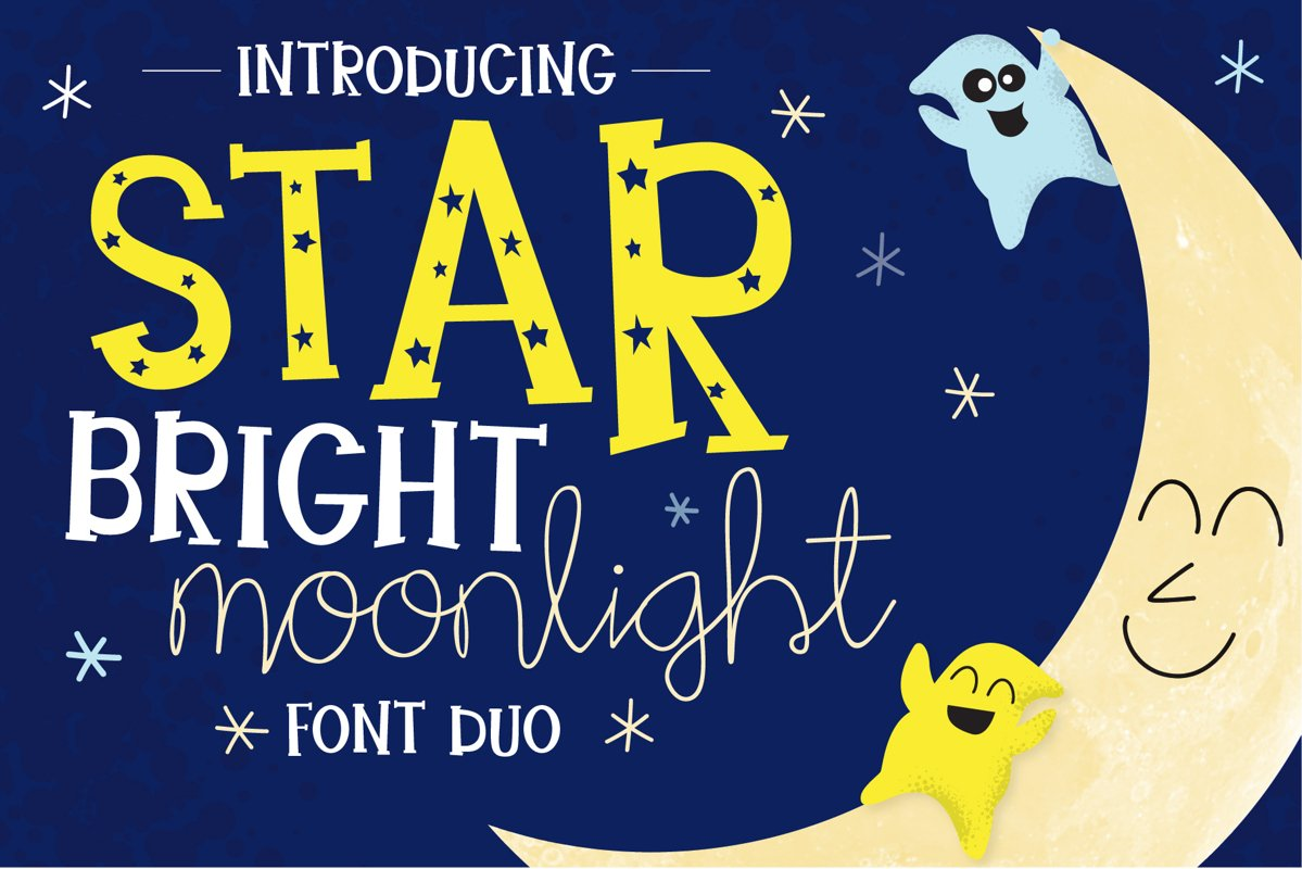 Star Bright Moon Light Font Duo example image 1