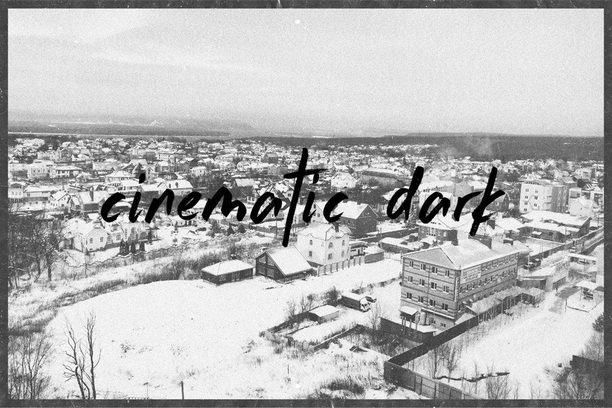 Cinematic Dark Photo Template example image 1