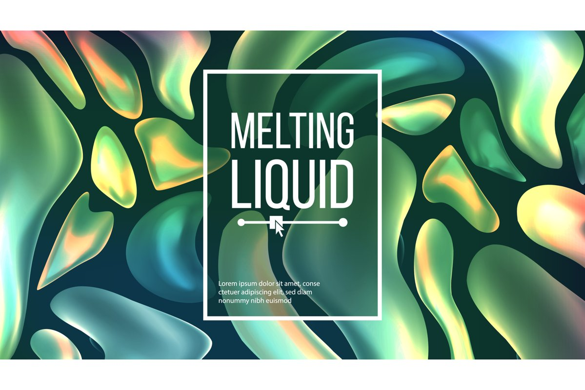 Fluid Liquid Background Vector. Dark Cover. Abstract Flowing example image 1