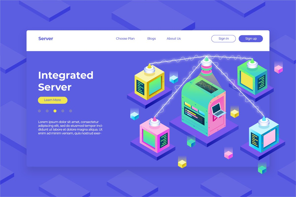 Integrated Server- Hero Header & Landing Page example image 1