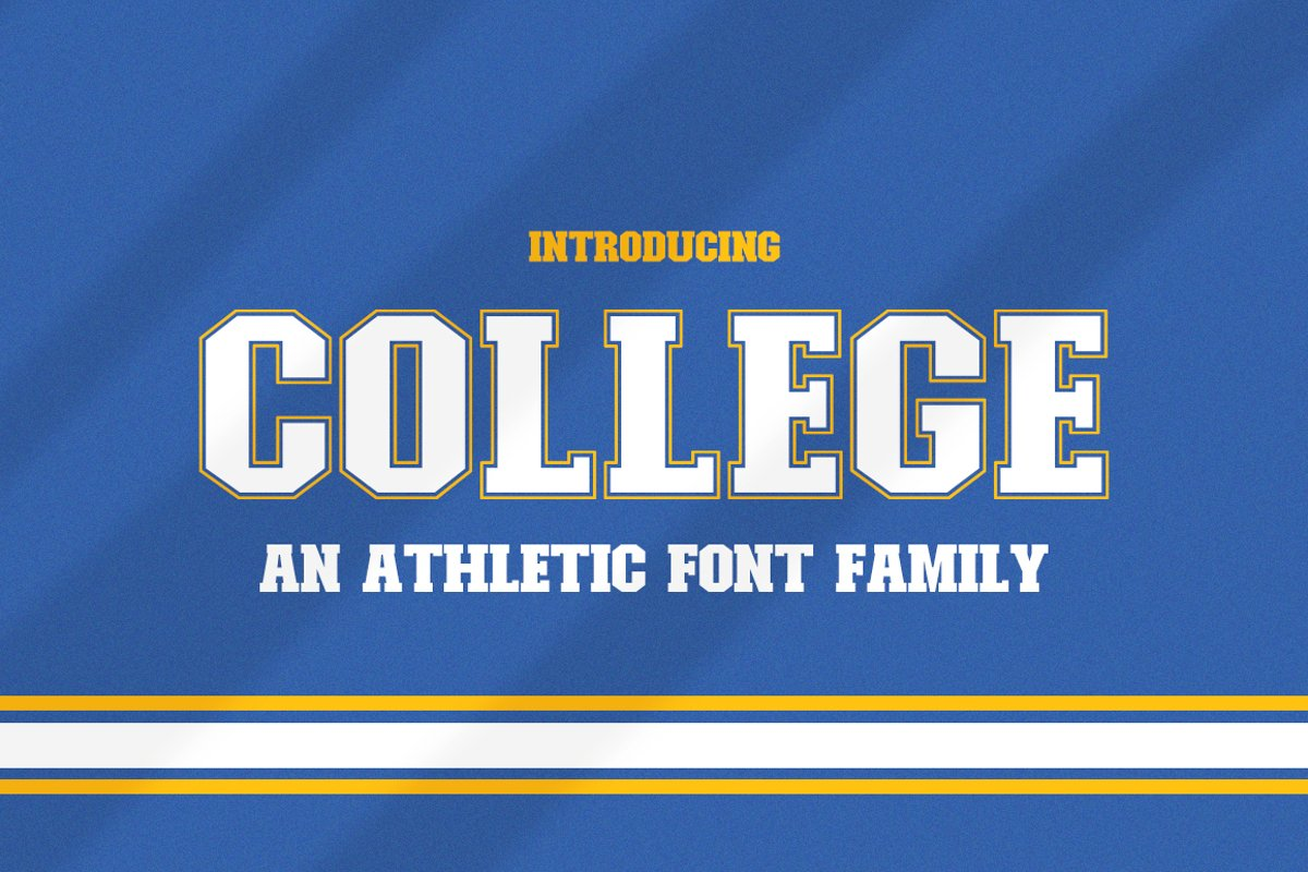 College Font Family example image 1