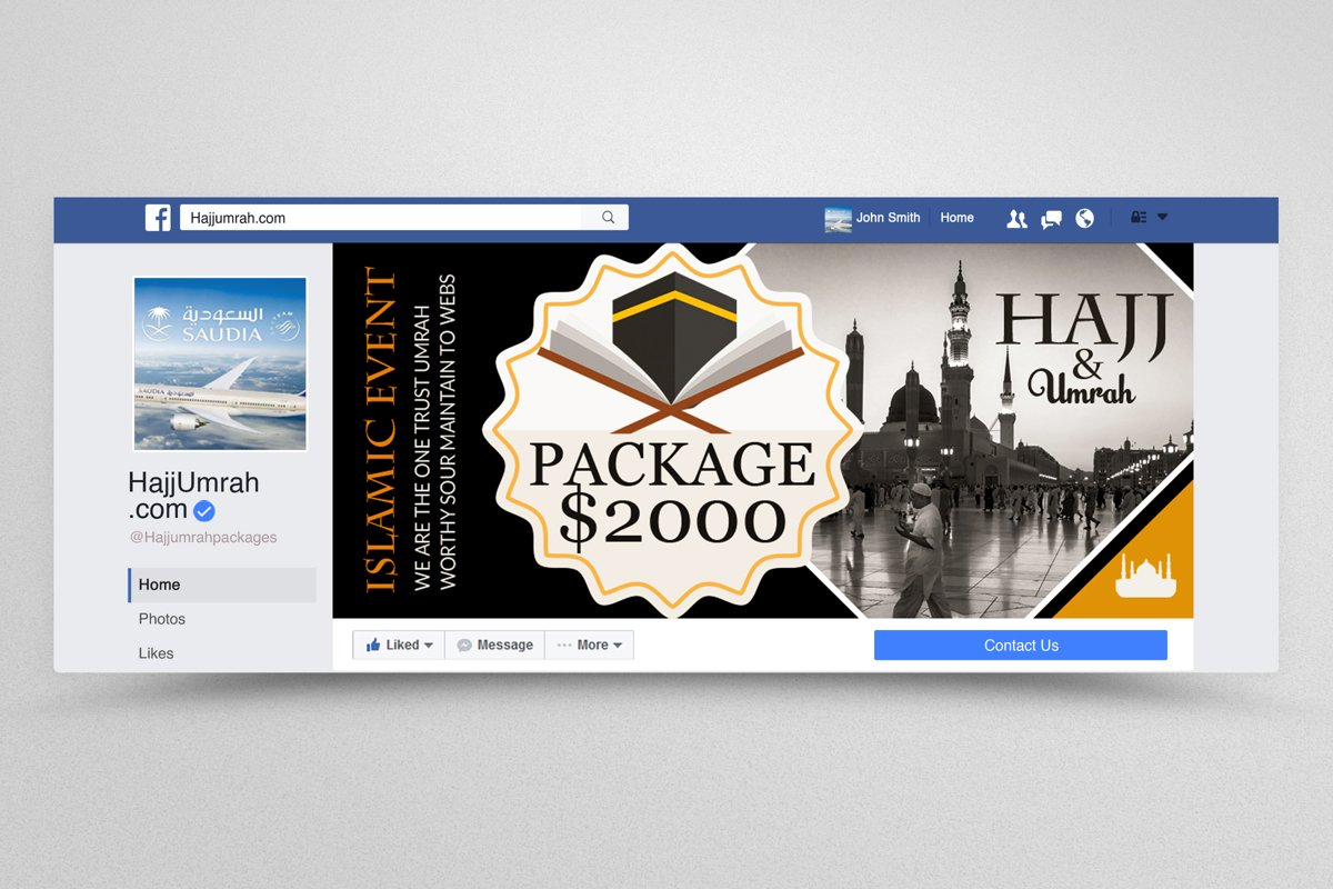 Hajj & Umrah Packages Facebook Banner example image 1