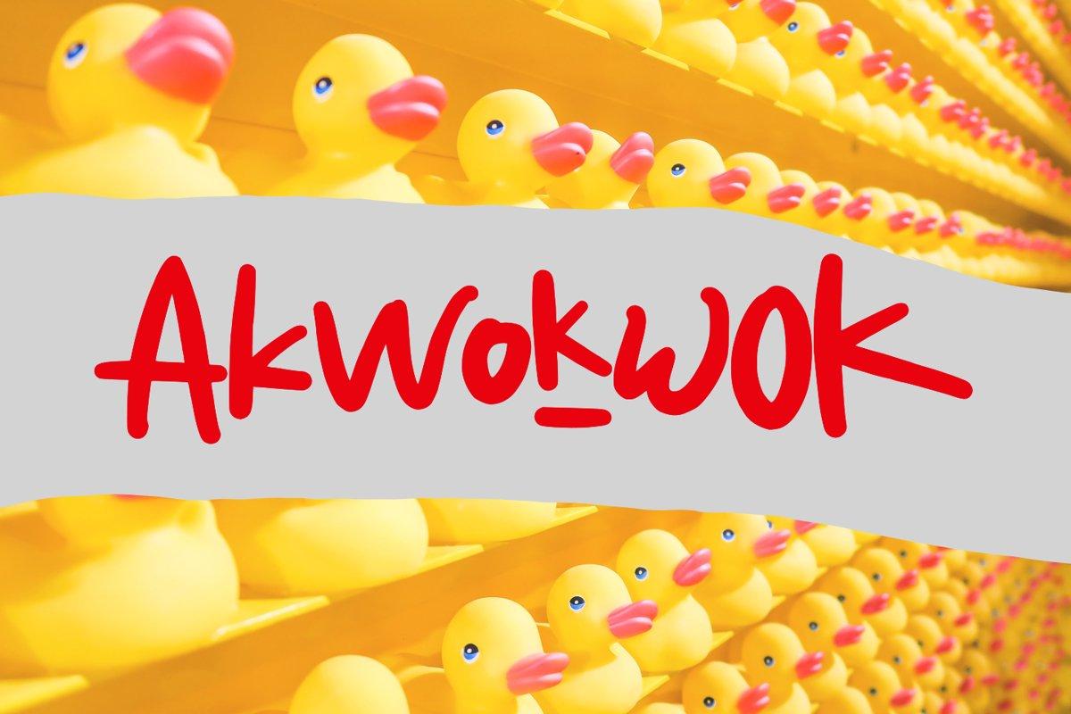 Akwokwok Playful Font example image 1