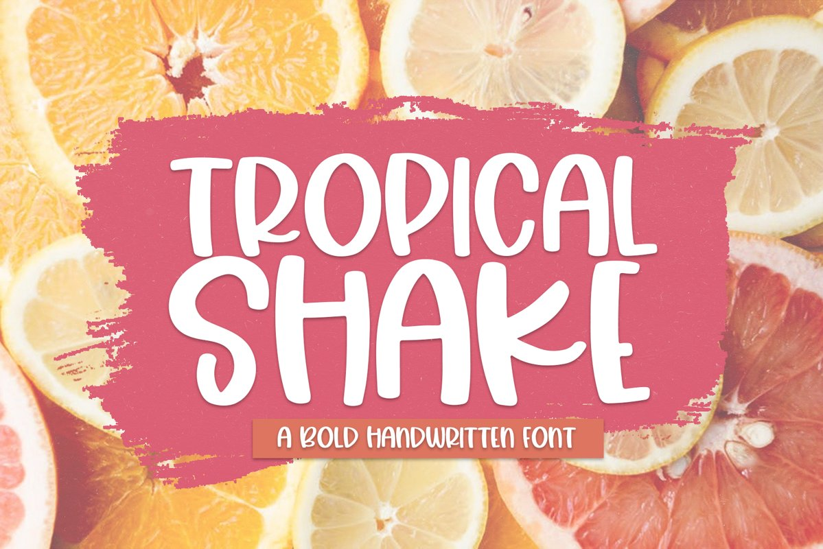 Tropical Shake - A Fun Handwritten Font example image 1